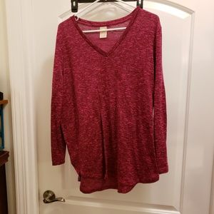 Faded Glory burgundy blouse or sweater or tunic